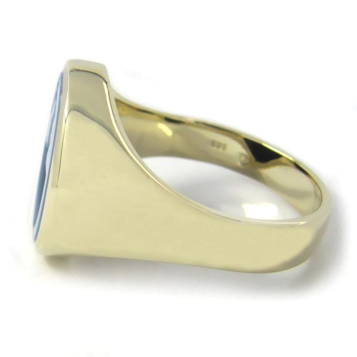 Siegelring in Gold mit Stein 16x12 mm oval