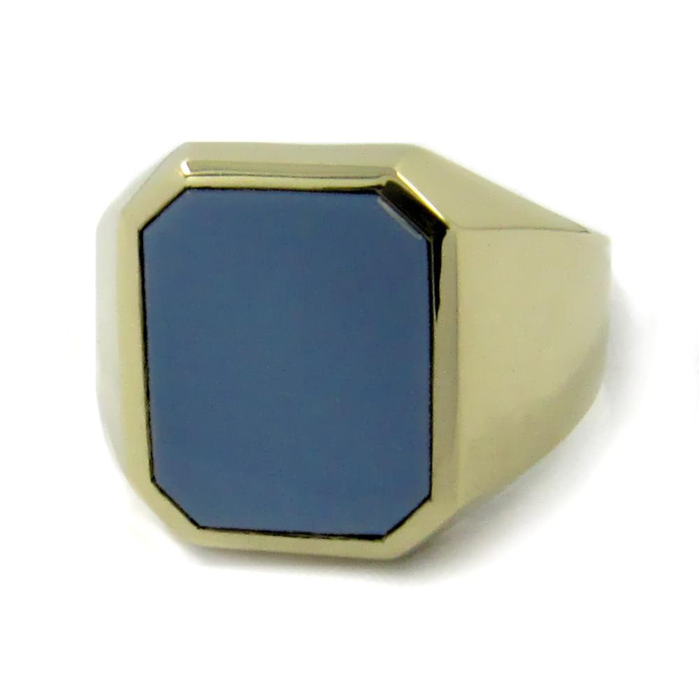 Siegelring in Gold mit Stein 14x12 mm Achteck