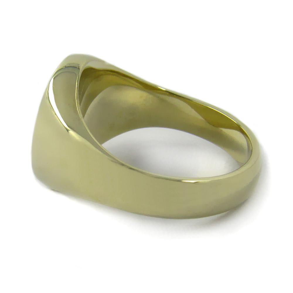 Siegelring in Gold mit Gravurplatte 15 mm rund