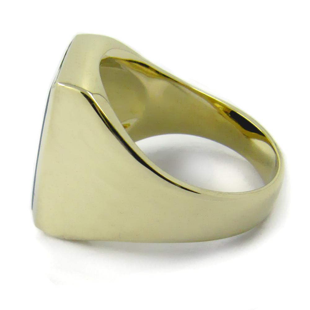 Siegelring in Gold mit Stein 15x13 mm Tonneauform
