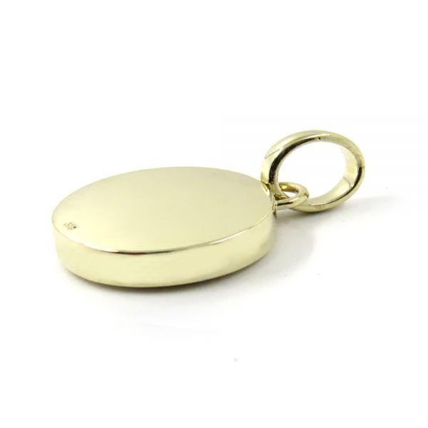 Anhänger in Gold mit Stein 14x12 mm oval