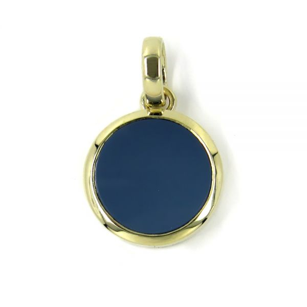 Anhänger in Gold mit Stein 14 mm rund