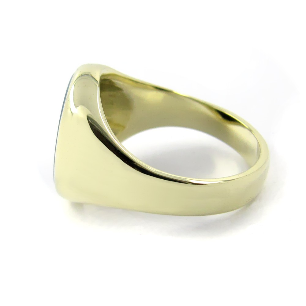 Siegelring in Gold mit Stein 14x12 mm oval, ECO