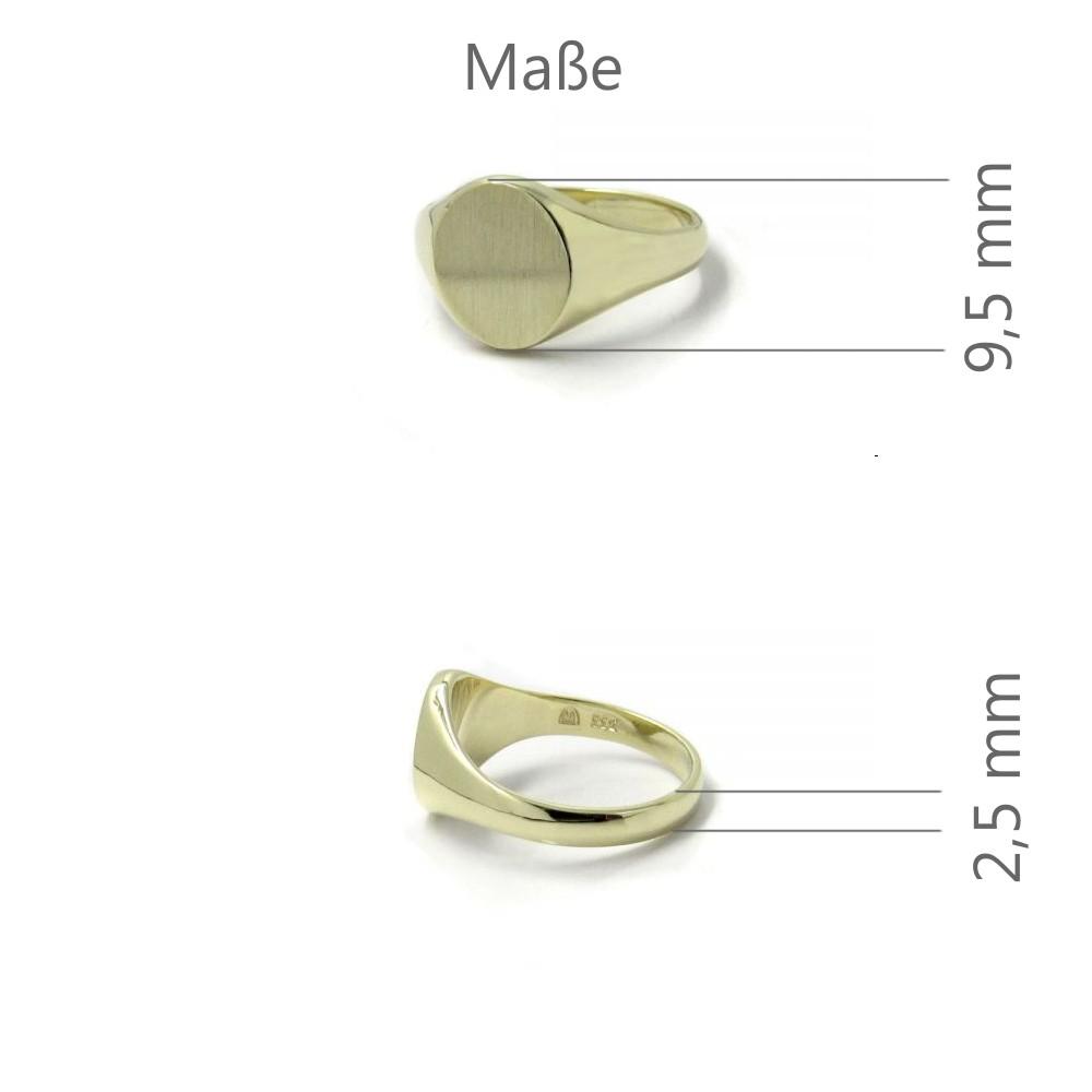 Siegelring in Gold mit Gravurplatte 9,5x8 mm oval