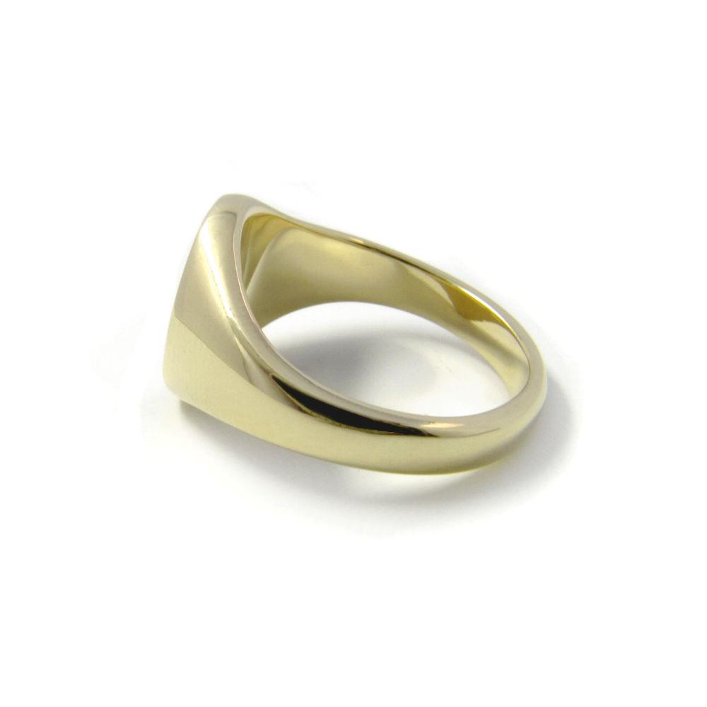 Siegelring in Gold mit Gravurplatte 11,5x10 mm oval