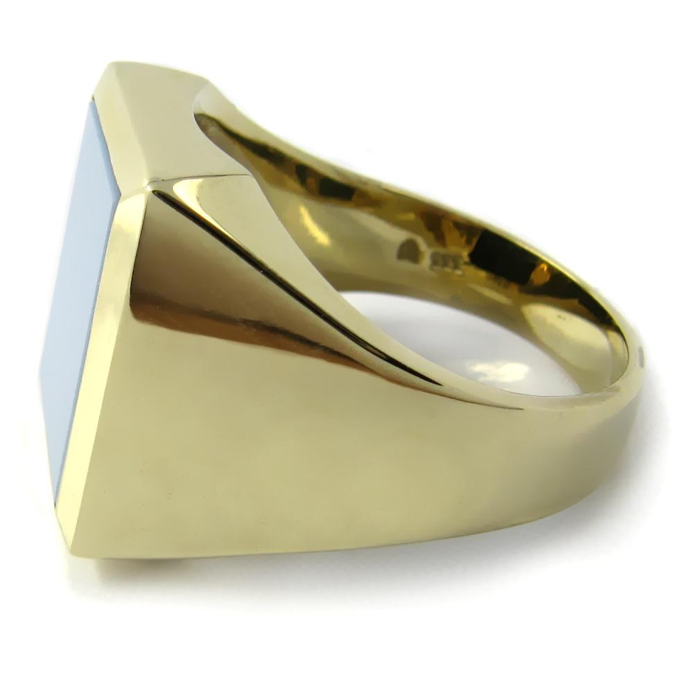 Siegelring in Gold mit Stein 15x12,5 mm Rechteck