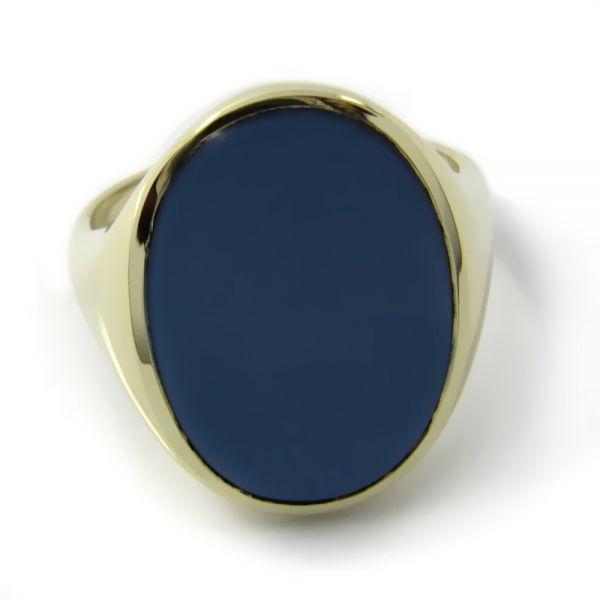 Siegelring in Gold mit Stein 18x13 mm oval