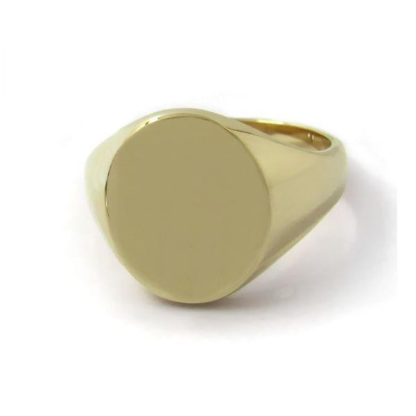 Siegelring in Gold mit Gravurplatte 13,5x11 mm oval