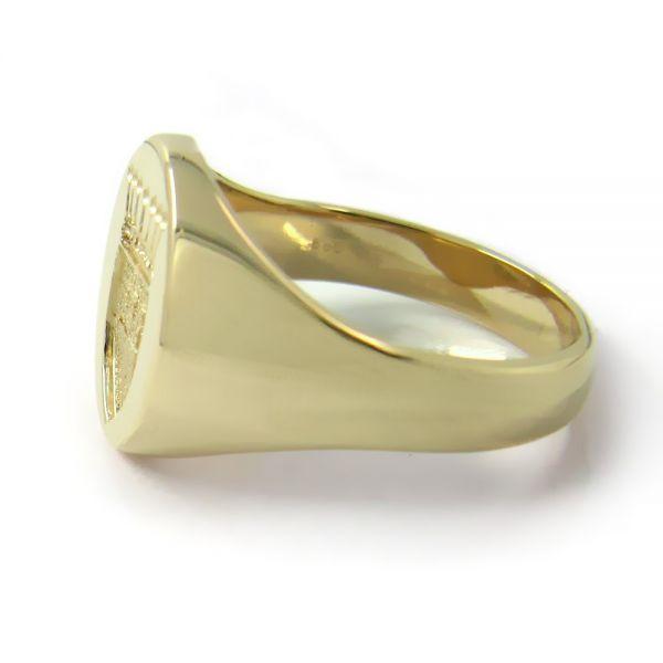 Siegelring in Gold mit Gravurplatte 15x12,5 mm oval