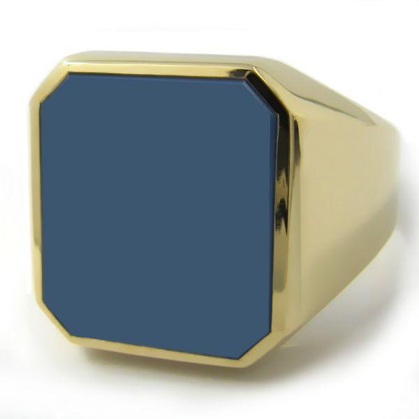 Siegelring XXXL in Gold mit Stein 17,5x15,5 mm Achteck