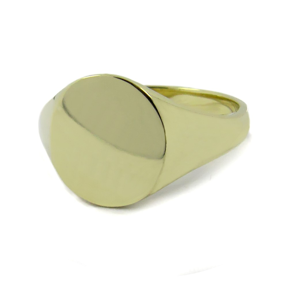 Siegelring in Gold mit Gravurplatte 13x11 mm oval