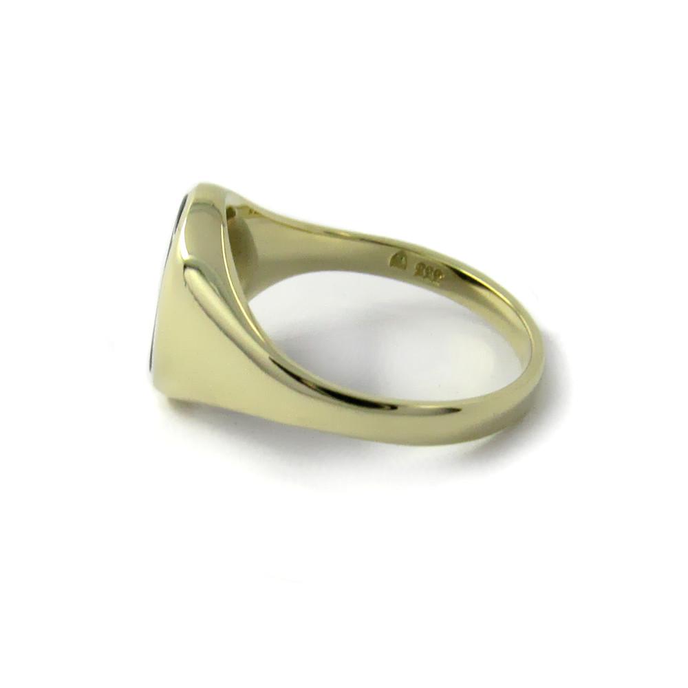 Siegelring in Gold mit Stein 11x9 mm oval, schmal