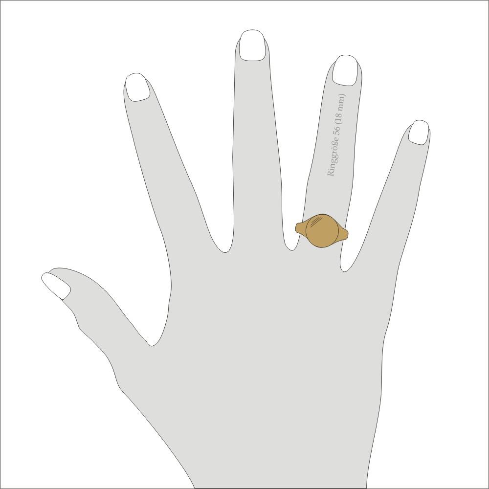 Siegelring in Gold mit Gravurplatte 13 mm rund