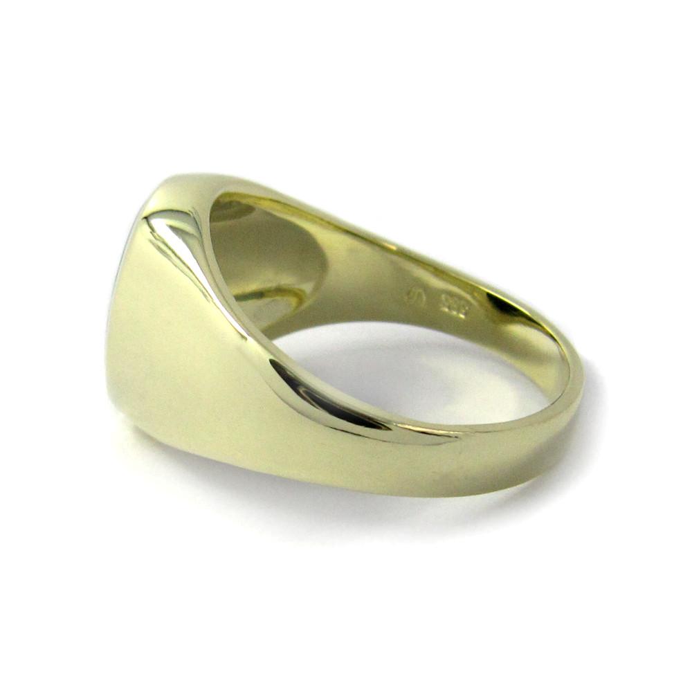 Siegelring in Gold mit Stein 12x10 mm oval, stark
