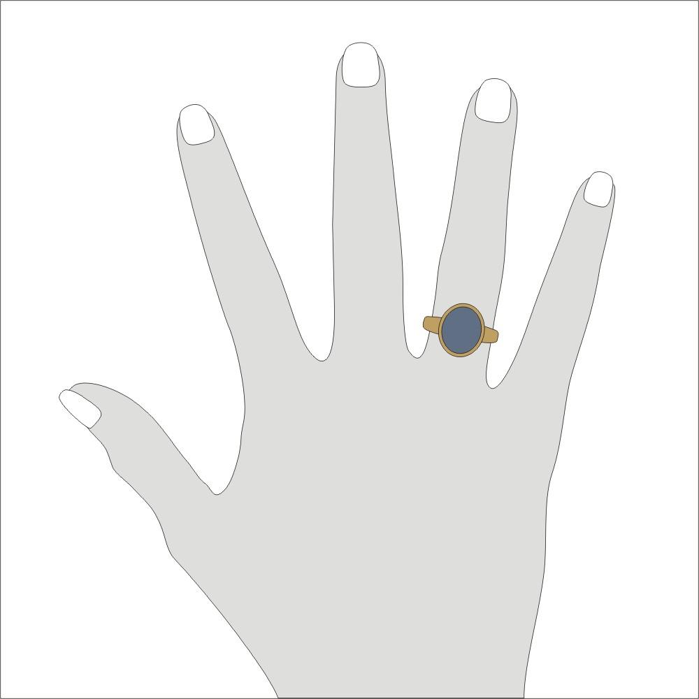 Siegelring in Gold mit Stein 13x11 mm oval