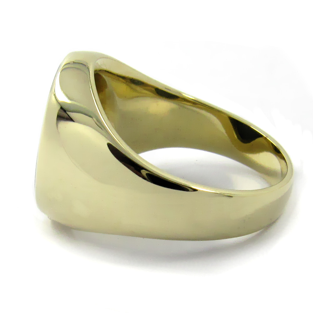 Siegelring in Gold mit Stein 15x12 mm oval
