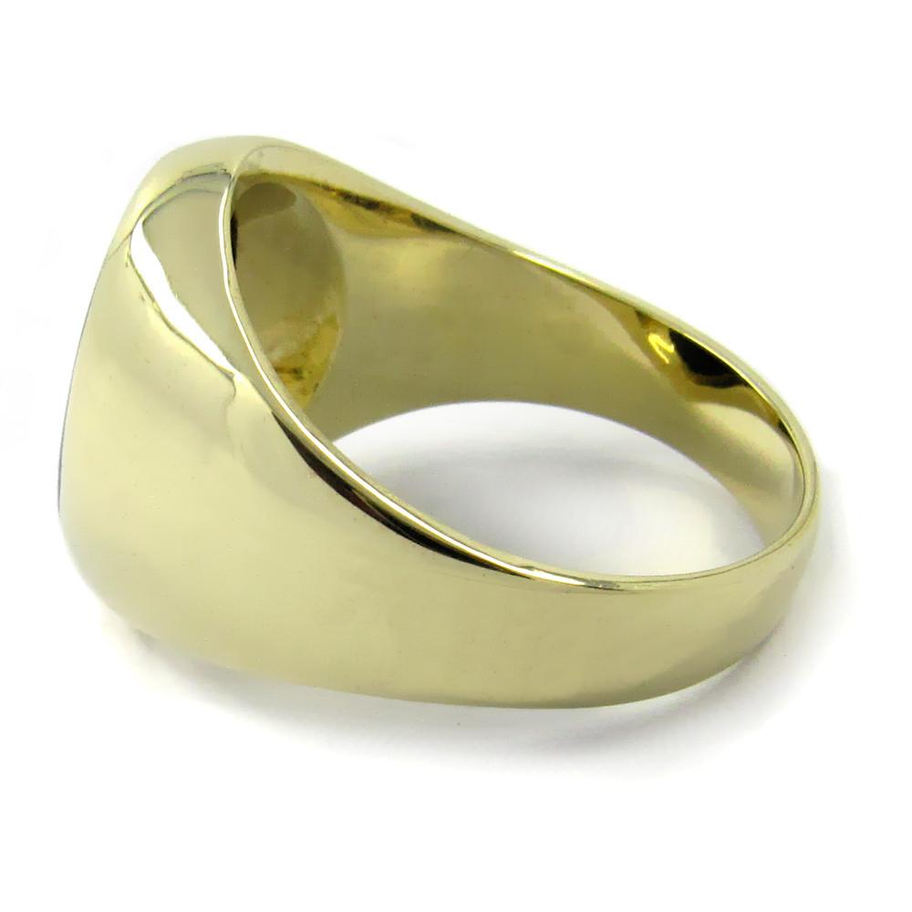 Siegelring in Gold mit Stein 16x14 mm oval