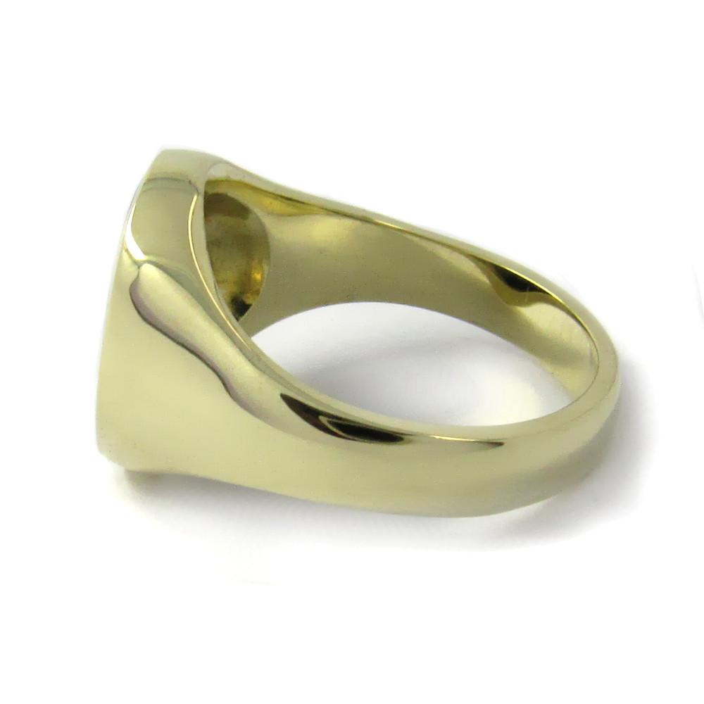 Siegelring in Gold mit Stein 14x12 mm oval