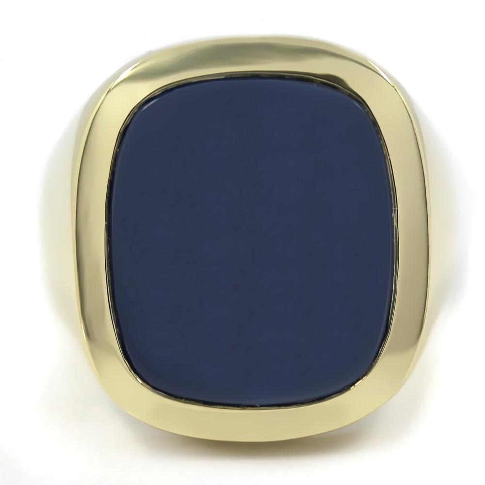 Siegelring in Gold mit Stein 17x15 mm antik