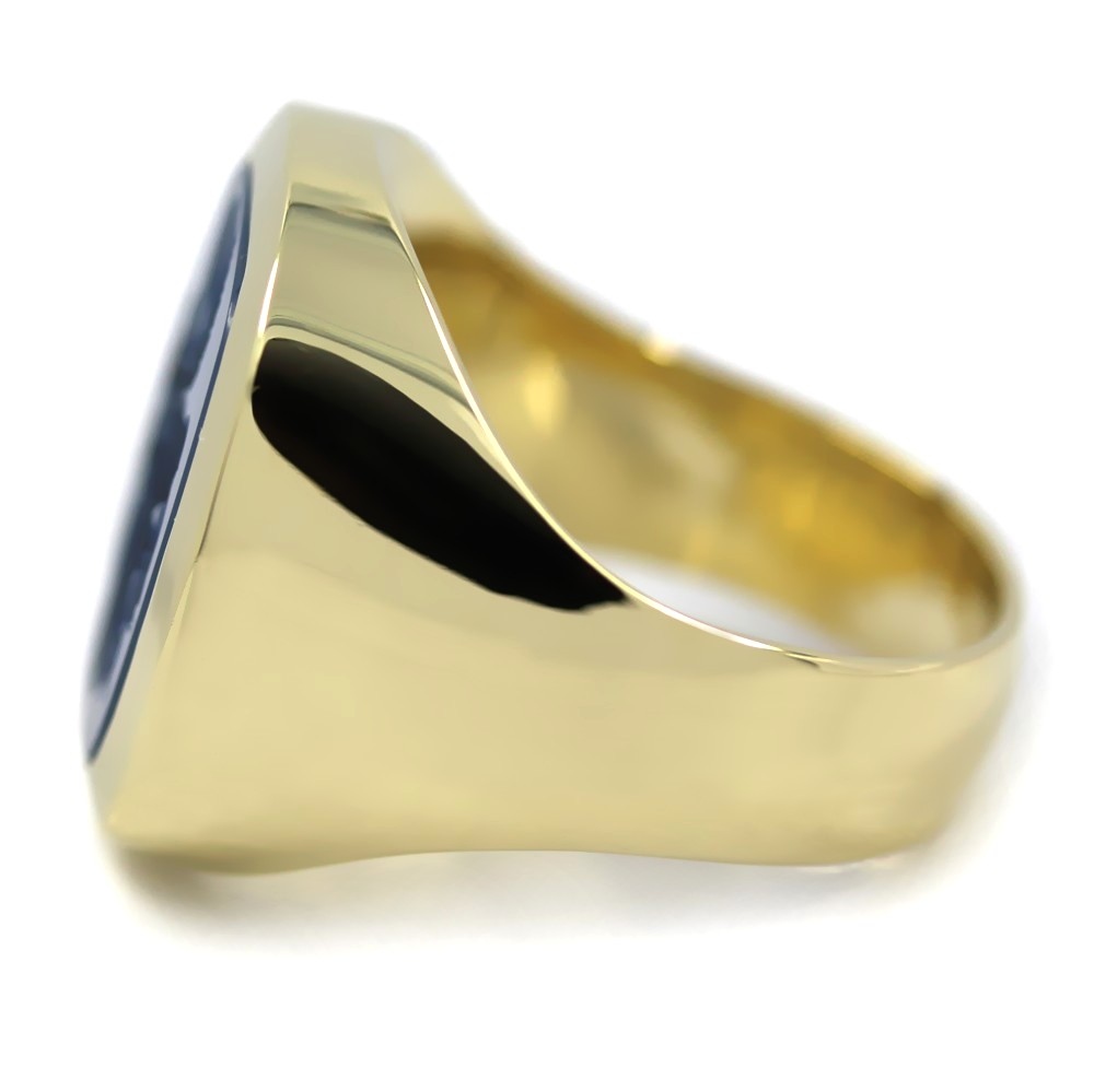Siegelring in Gold mit Stein 17x15 mm antik