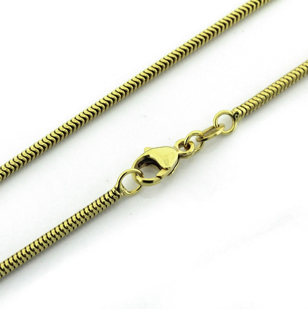 Anhängerkette in Gold 1,6 mm (Schlangen-Collier)