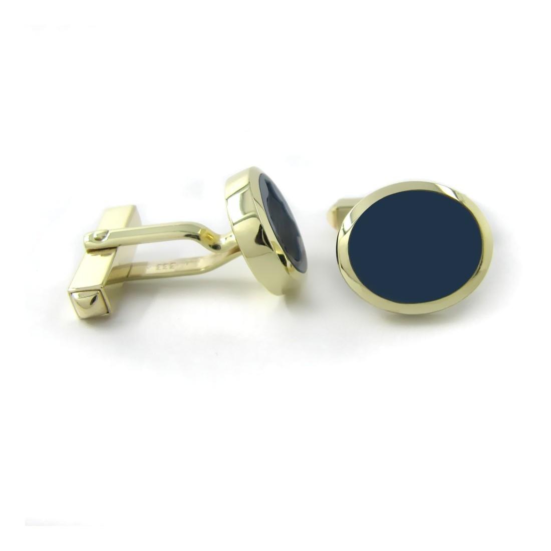 Manschettenknöpfe in Gold mit Stein 13x11 mm oval