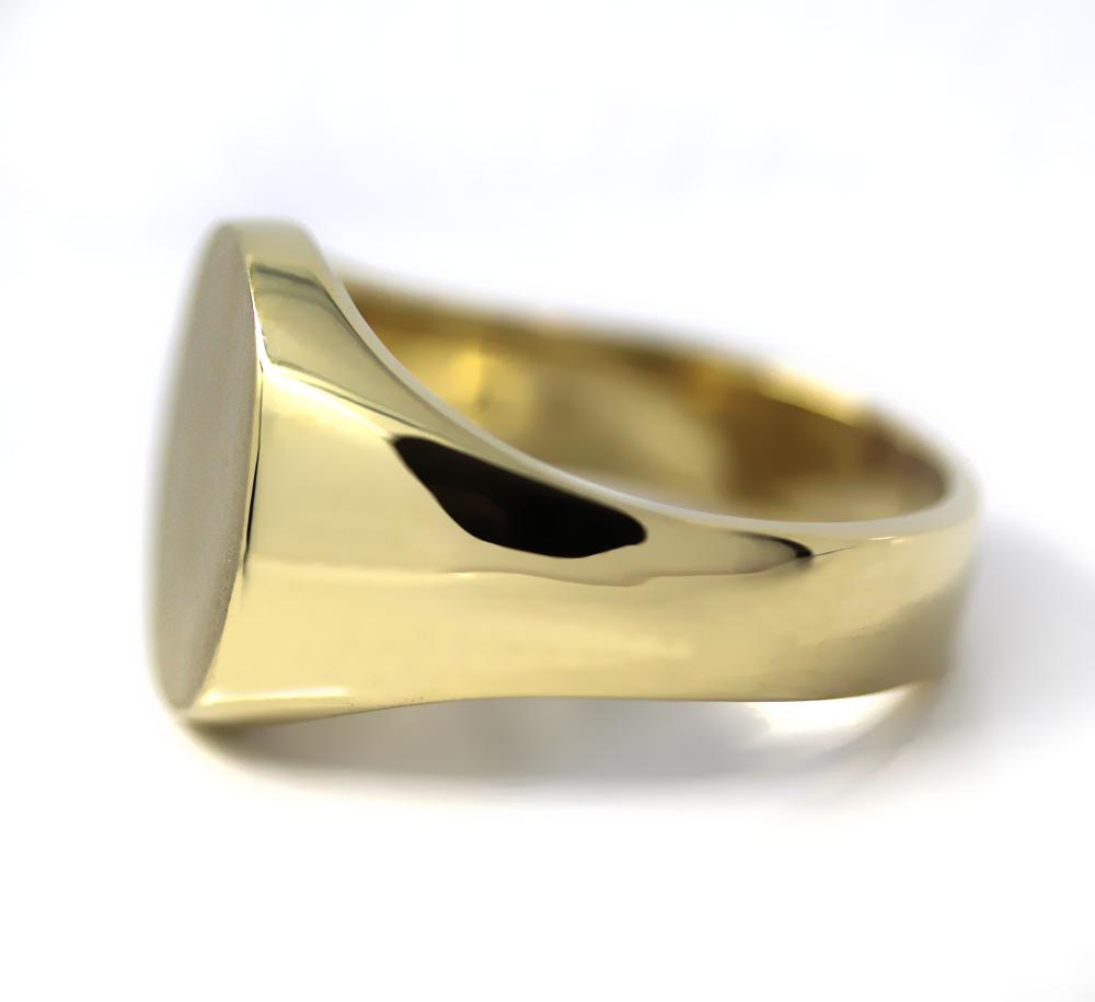Siegelring in Gold mit Gravurplatte 16,5x15 mm oval