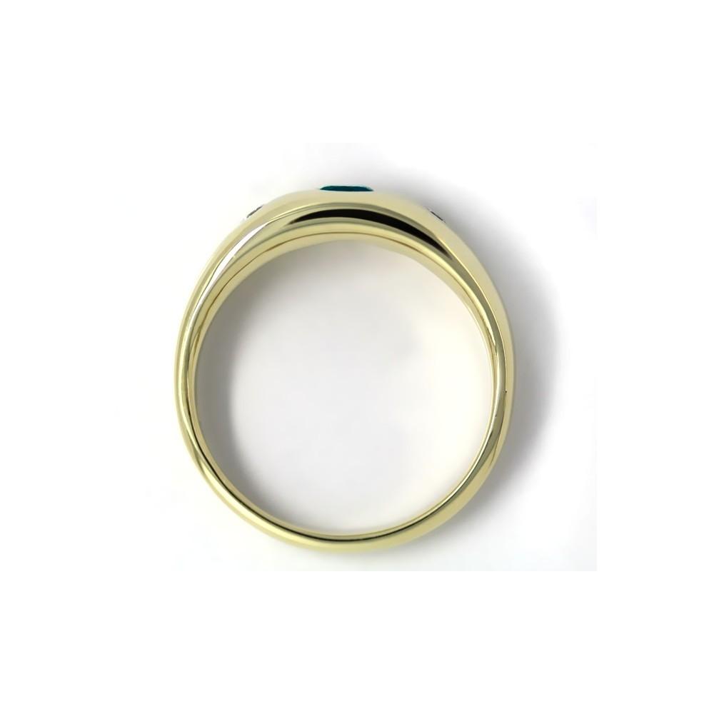 Bandring in Gold, 4 mm Saphir und 2 Brillanten