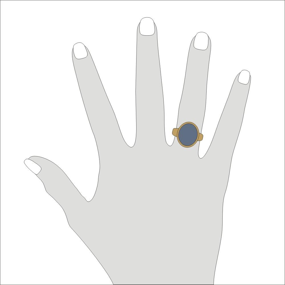 Siegelring in 333 Gold mit Stein 15x12 mm oval, Ringgröße 58