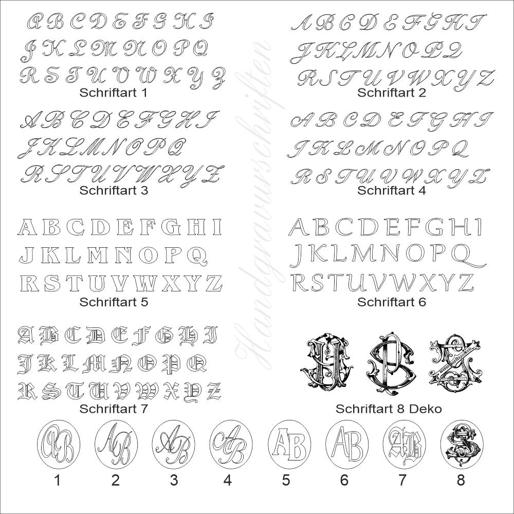 Monogrammgravur in Metall - Flachstich