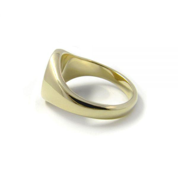 Siegelring in 333 Gold mit Gravurplatte 11,5x10 mm oval, Ringgröße 54