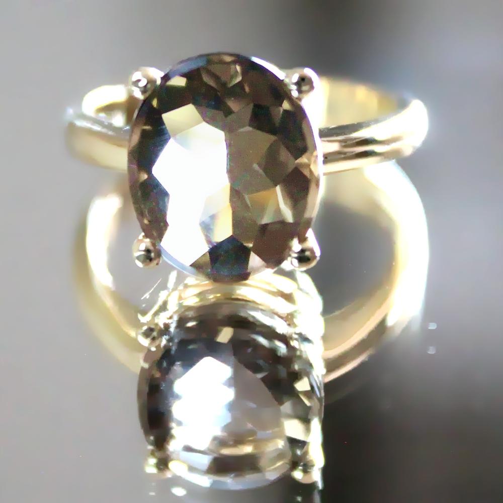 Siegelring-Anfertigung in Gold mit Rauchquarz