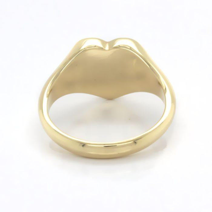 Siegelring in Gold mit Gravurplatte 11 mm Herzform