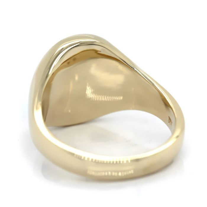 Siegelring in 333 Gold mit Onyx 14x12 mm oval, Ringgröße 61
